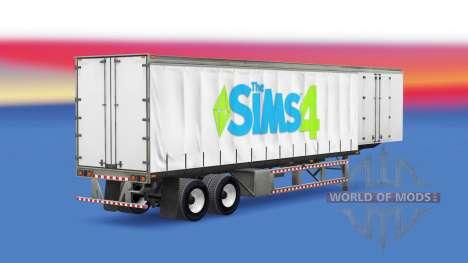 Haut Die Sims 4 auf einen Vorhang semi-trailer für American Truck Simulator
