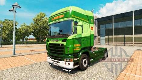 Die S. J. Bargh skin für Scania-LKW für Euro Truck Simulator 2