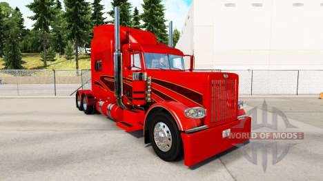 Die Haut der Orange Karte für den truck-Peterbil für American Truck Simulator