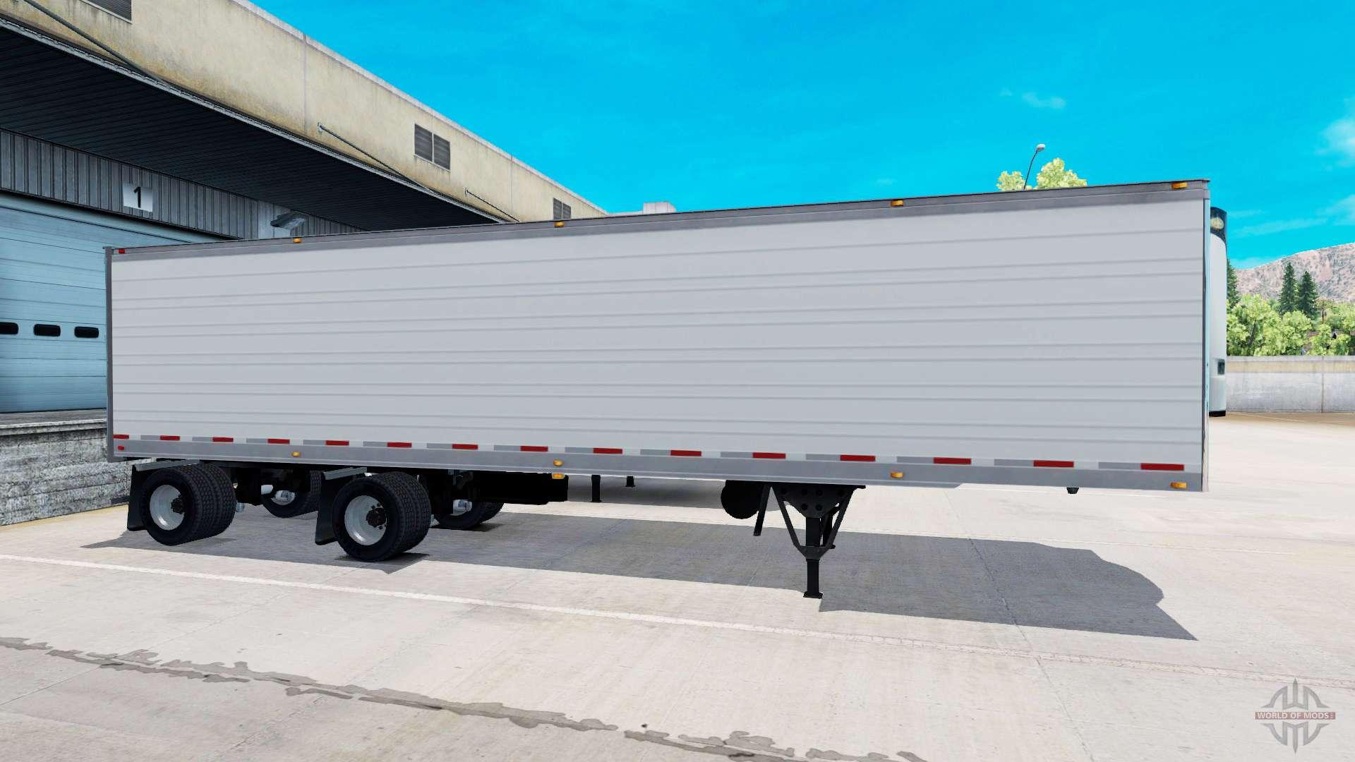 biaxiale frigorifique semi remorque pour american truck simulator. Black Bedroom Furniture Sets. Home Design Ideas