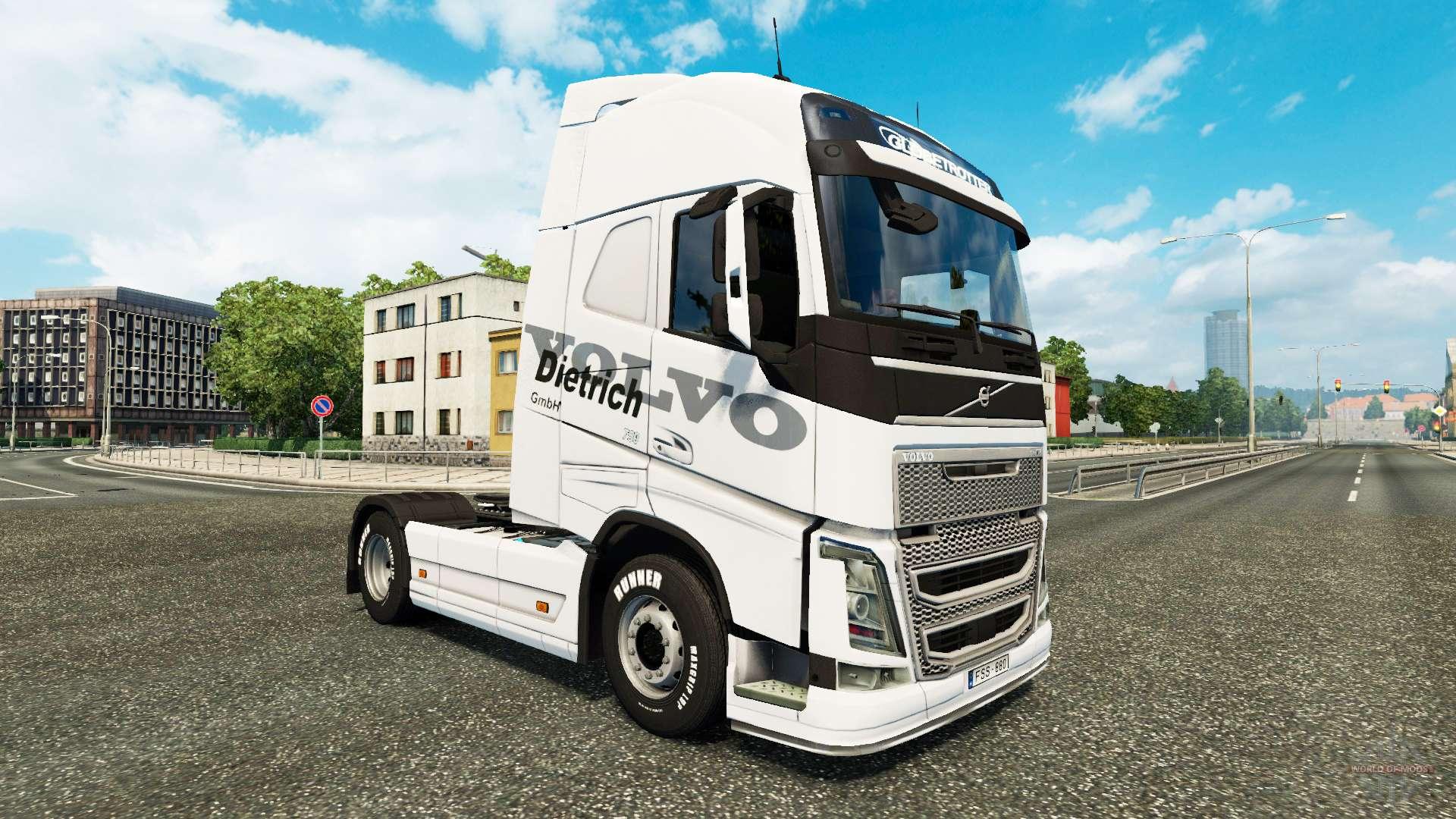 dietrich skin f r volvo lkw f r euro truck simulator 2. Black Bedroom Furniture Sets. Home Design Ideas