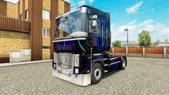 La peau de la Fumée Bleue sur tracteur Renault