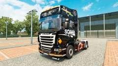 La peau Scania Noir pour tracteur Scania