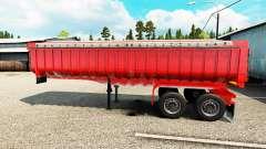 Semi-remorque camion benne
