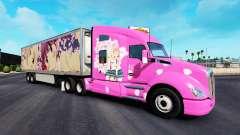 La peau Sakura pour camions Peterbilt Kenwort