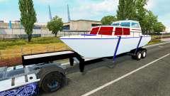 Der Anhänger mit dem Boot