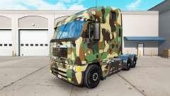 La peau de l'Armée sur le camion Freightliner Ar