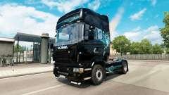 Haut, Türkis Rauch für Scania-LKW