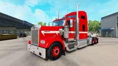La peau Rouge avec Bande Blanche sur le camion K