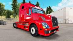 La peau Averitt Express tracteur Volvo VNL 670
