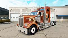 Haut Der Trägt Den auf den truck Kenworth W900