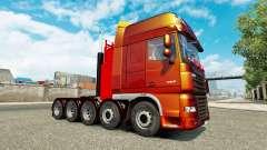 Zusätzliches Fahrwerk für Traktor DAF XF