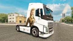 Les Vikings de la peau pour Volvo camion