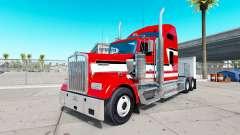 Haut Rot und Weiß auf dem truck-Kenworth W900