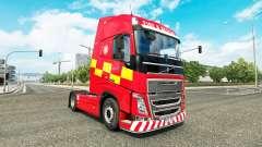 La peau d'Incendie Et de Secours chez Volvo truc