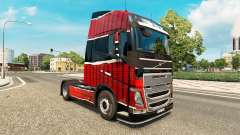 Haut Piel Rojo Negro bei Volvo trucks