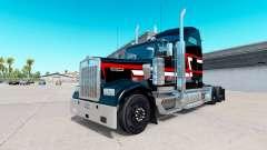 Peau Rouge blanc bandes sur le camion Kenworth W