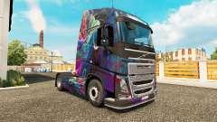 Die Fractal-Flame-skin für den Volvo truck