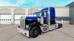 Haut Schwarz und Blau auf den truck Kenworth W90