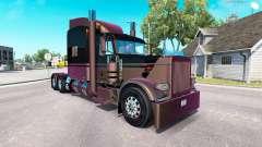 4 peau Métallique pour le camion Peterbilt 389