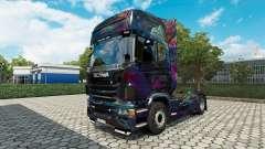 Die Fractal-Flame-skin für den Scania truck