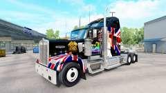 La peau de la Reine sur le camion Kenworth W900