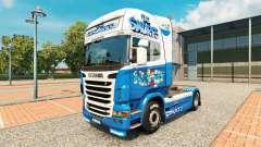 Les schtroumpfs de la peau pour Scania camion