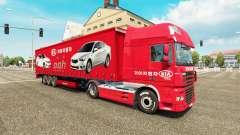 Skins Auto Unternehmen auf LKW