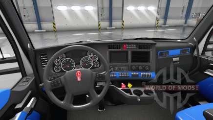 Bleu Kenworth T680 intérieur pour American Truck Simulator