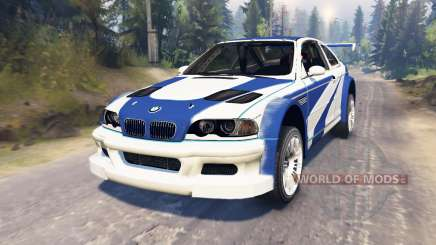 BMW M3 (E46) GTR [Most Wanted] pour Spin Tires