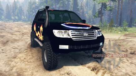 Toyota Land Cruiser 200 2008 pour Spin Tires