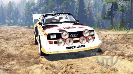 Audi Sport quattro S1 v2.0 pour Spin Tires