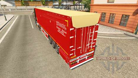 Semi-remorque à benne basculante Bodex v2.0 pour Euro Truck Simulator 2