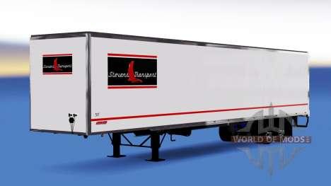 La peau Stevens Transport sur semi-remorque pour American Truck Simulator