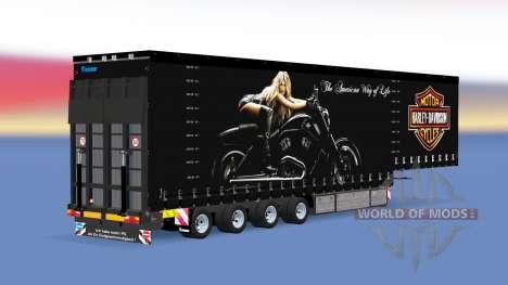 Quatre essieux rideau semi-remorque v1.1.1 pour American Truck Simulator