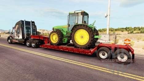 Low sweep mit einer Ladung von Traktoren von Joh für American Truck Simulator