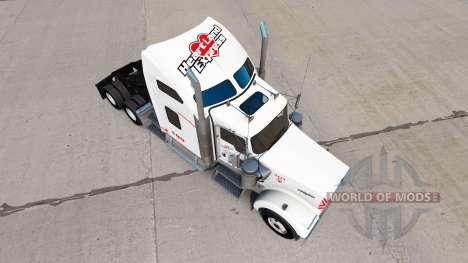 Haut Heartland Express, [weiß] truck Kenworth für American Truck Simulator