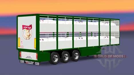 Auflieger-Rinder Träger Ferkel Trans für Euro Truck Simulator 2