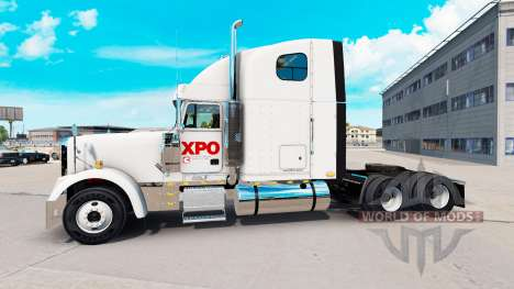 La peau XPO Logistics sur le camion Freightliner pour American Truck Simulator