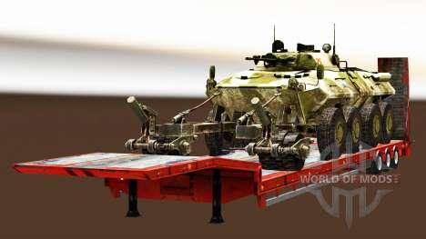 Semi transportant du matériel militaire v1.4 pour Euro Truck Simulator 2