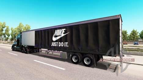 Peau Nike sur le camion Kenworth pour American Truck Simulator