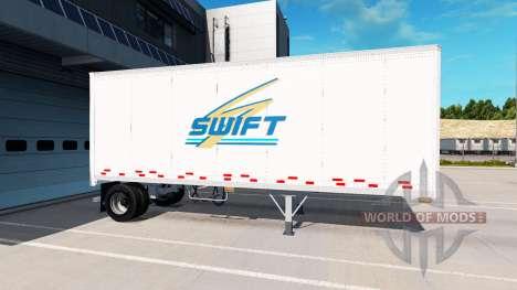 Uniaxiale semi-remorque pour American Truck Simulator