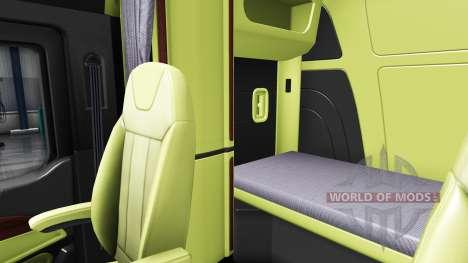 Cream Innenraum Peterbilt 579 für American Truck Simulator