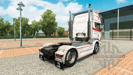 La peau de Bart Kroeze au tracteur Scania pour Euro Truck Simulator 2