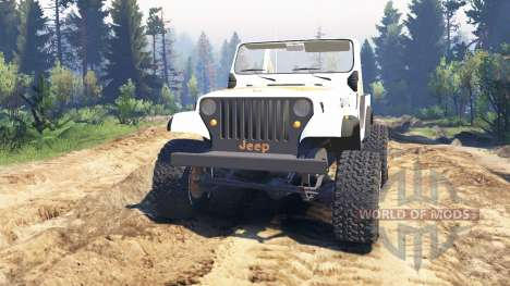 Jeep CJ-7 Renegade [Dixie] v2.0 für Spin Tires