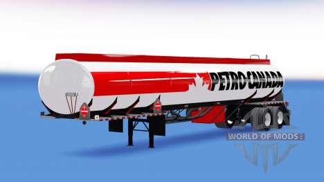 La peau de Petro-Canada carburant semi-remorque pour American Truck Simulator