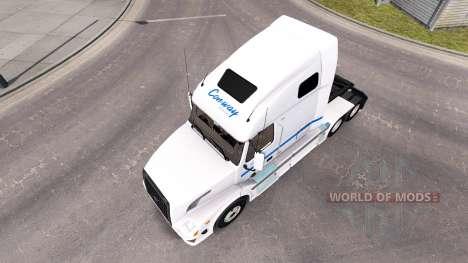 Skin Con-way LKW LKW Sattelzugmaschine Volvo VNL für American Truck Simulator