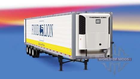 Frigorifique semi-remorque états-unis pour American Truck Simulator