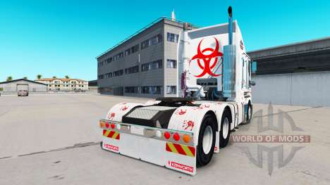 La peau de Zombie Hunter v2.0 tracteur Kenworth  pour American Truck Simulator