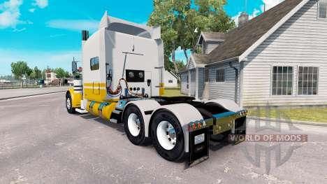 Haut, United Van Lines für den truck-Peterbilt 3 für American Truck Simulator